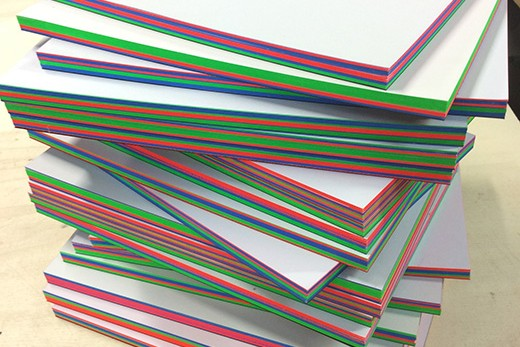 Schreibblocks mit Farbschnitt Muenchen