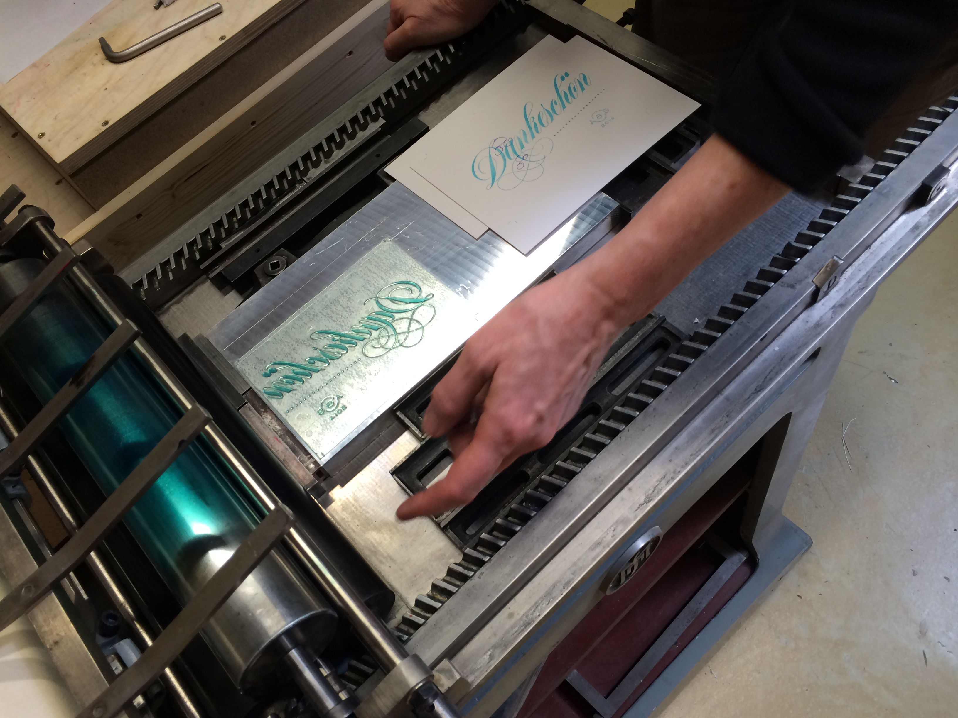 Letterpress Seminar Werkstatt Hoeflich Muenchen