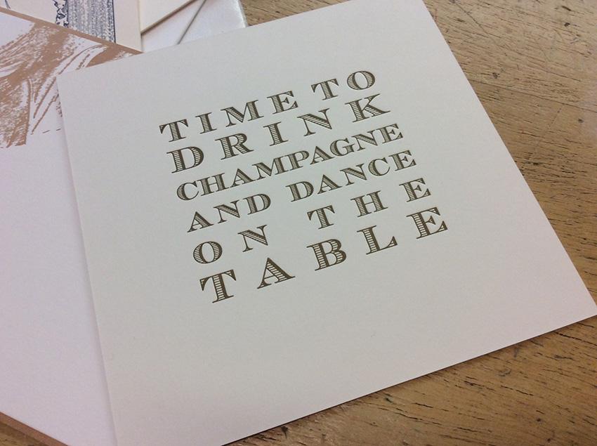 hochzeitskarten letterpress Muenchen