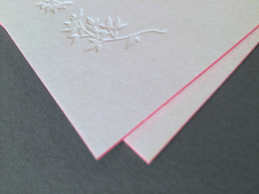 feine hochzeitspapeterie im letterpress