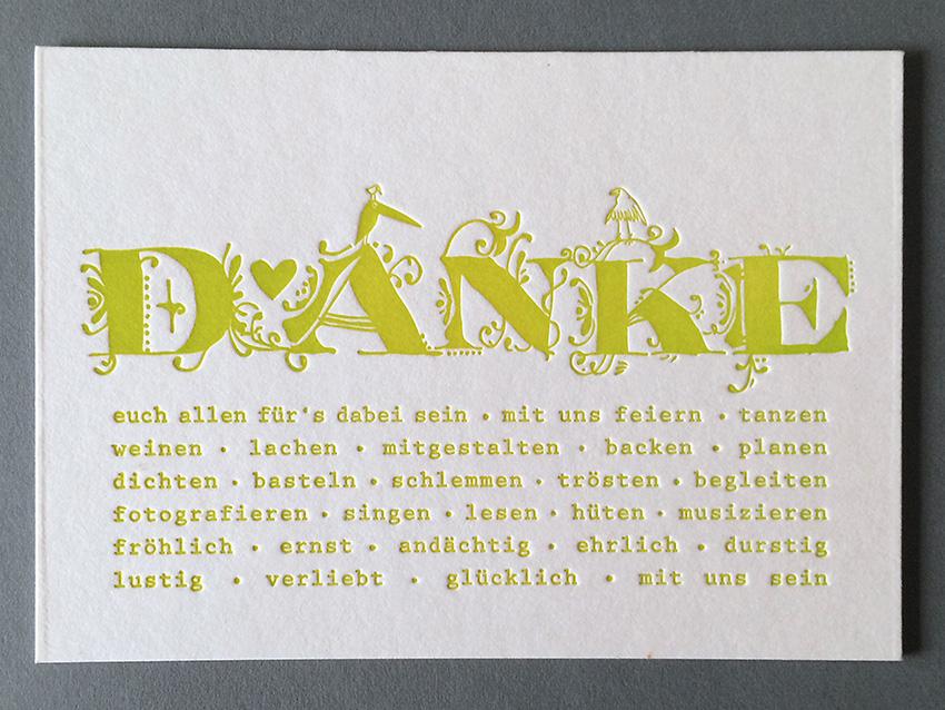 dankeskarte zur hochzeit wedding card