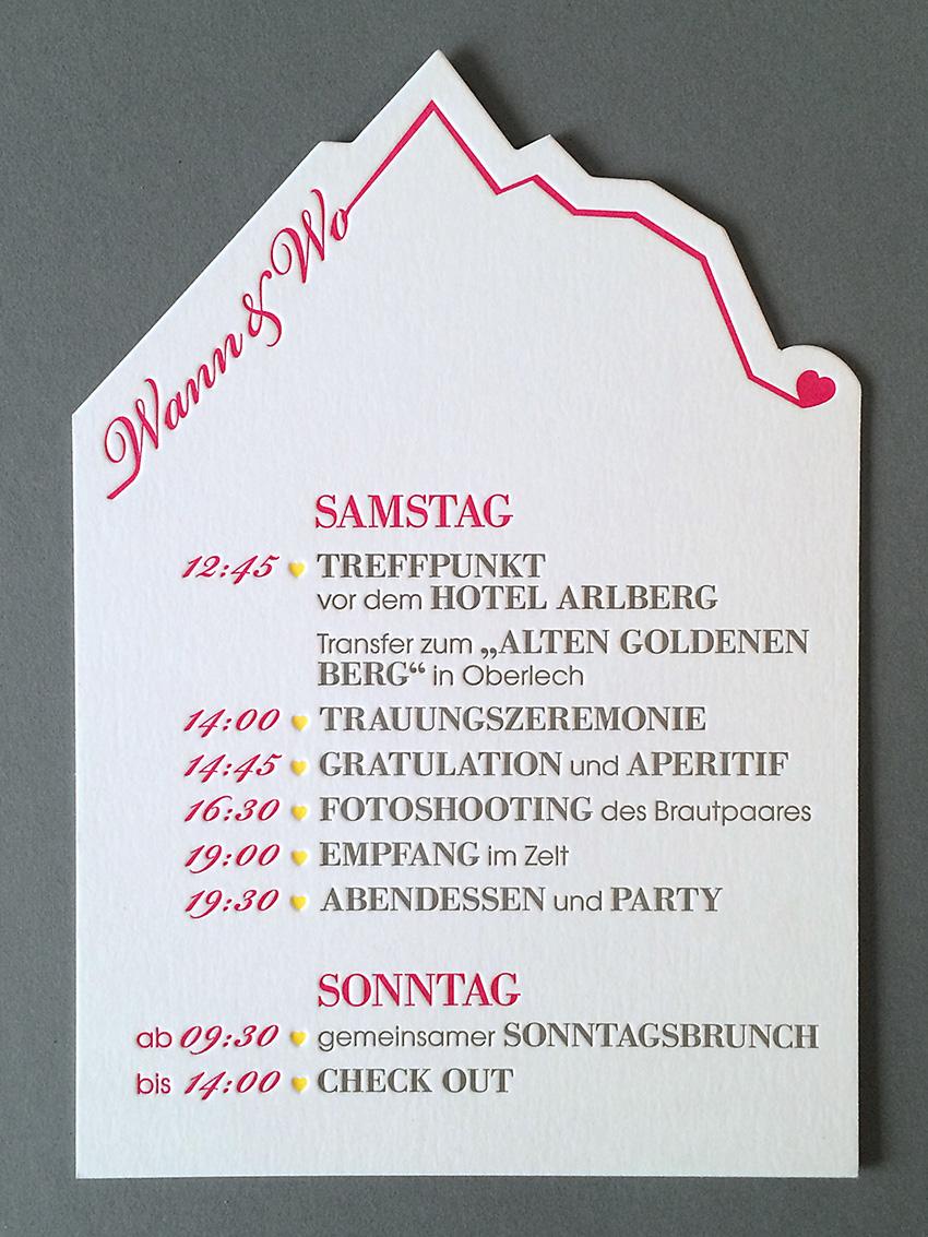 ausgestanzte hochzeitskarte im letterpress von werkstatt hoeflich