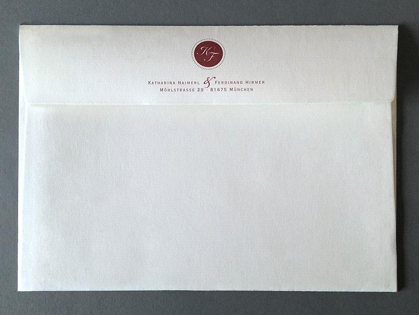 kuverts zur hochzeitseinladung