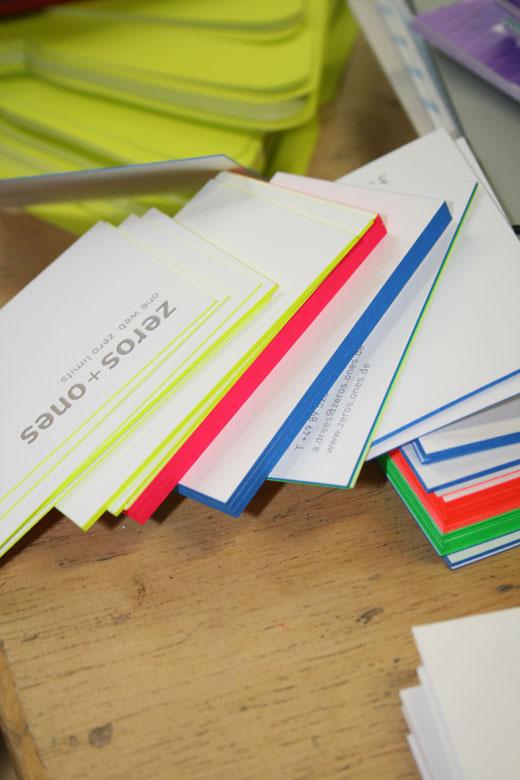 visitenkarte Heissfolie Farbschnitt Offsetdruck 3