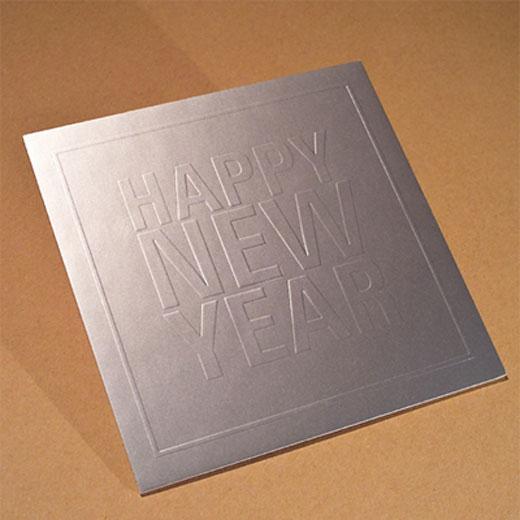 Neujahrskarte gepraegt kaschiert illurama