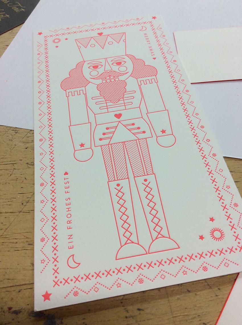 Firmen Letterpresskarte DIN lang