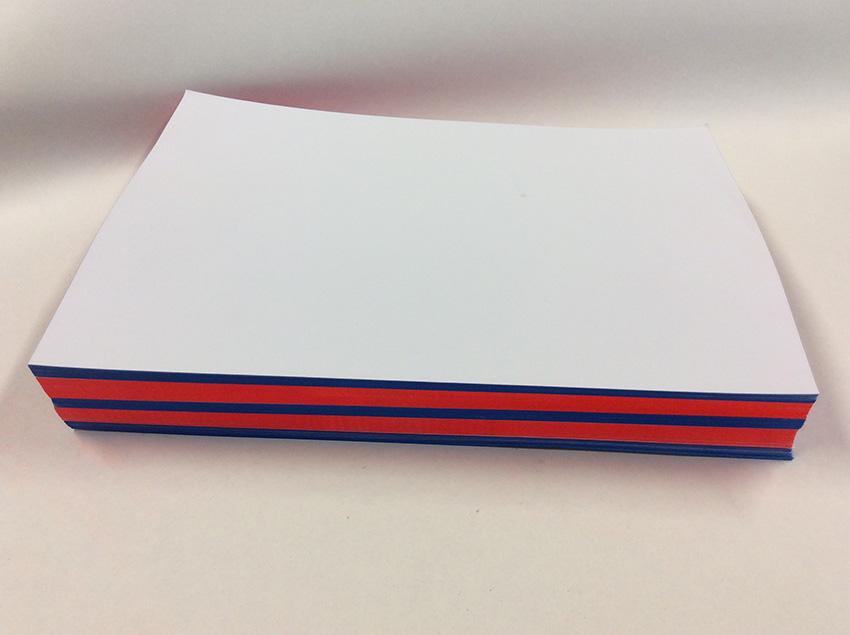 Briefpapier mit Farbschnitt