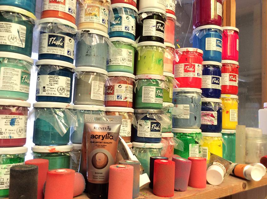 Farbschnitt Farben